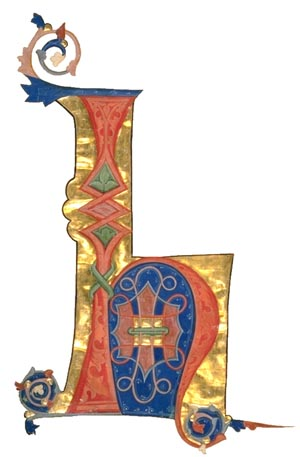 illuminated letter from page 250